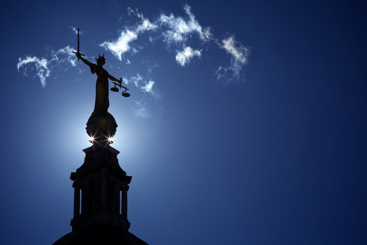 Statue of Lady Justice at the Old Bailey London
