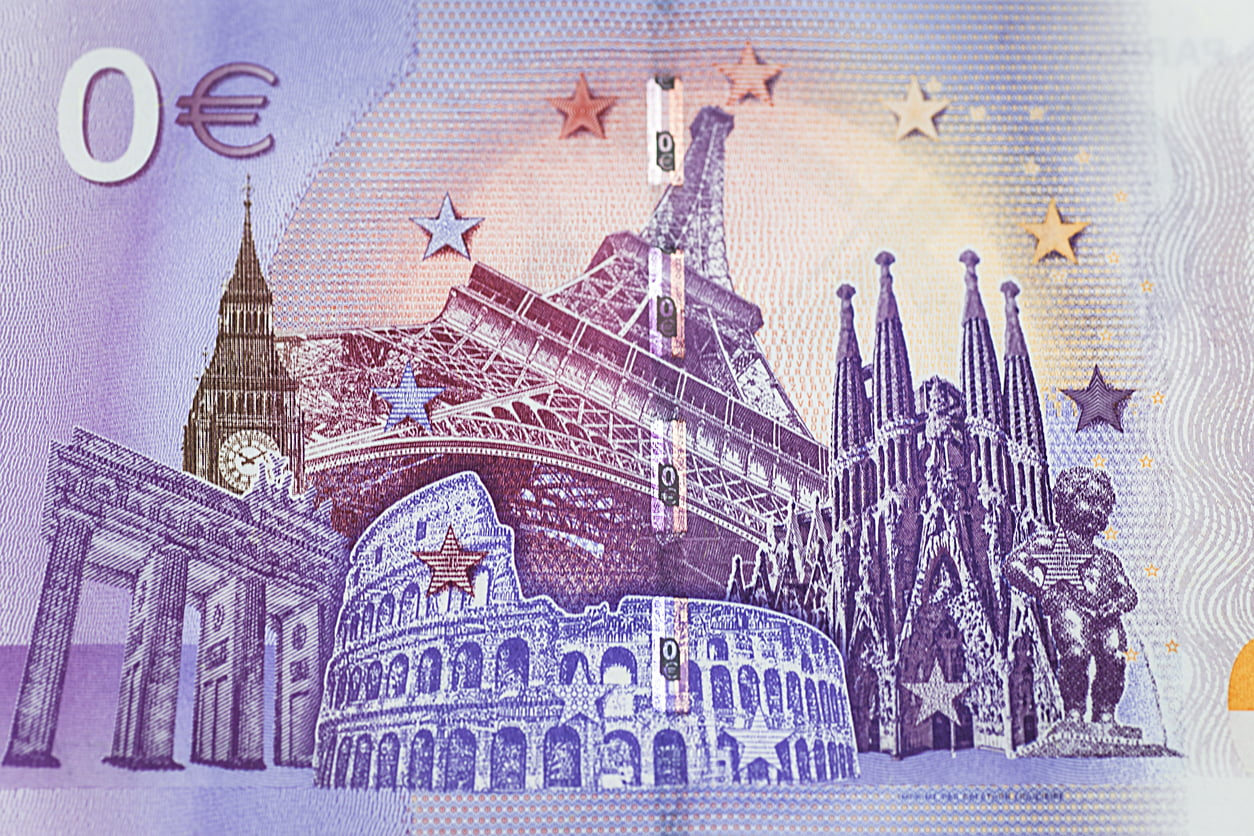 0 euro banknote
