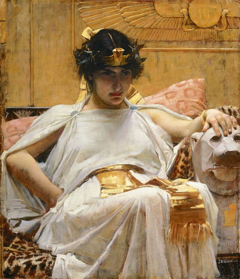 'Both queen and sex siren', Cleopatra by John Williams Waterhouse
