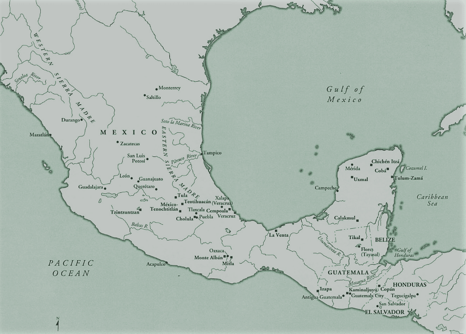 The Mesoamerican region and its cultural areas in the Pre-Columbian era
