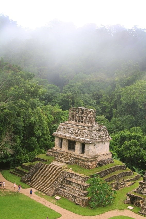 Mayan temple of the Count at Palenque. Circa 600 AD