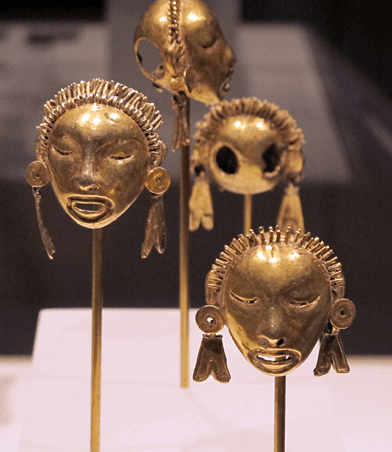 Golden Aztec-Mixtec pendants. Circa 1400-1515