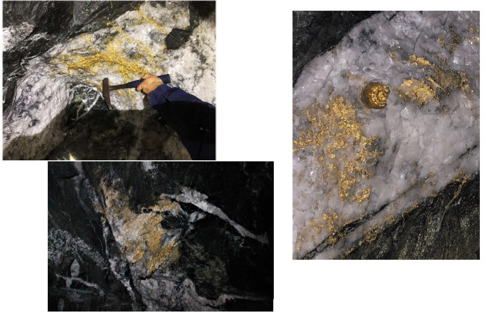 Gold in quartz from 15 level at Beta Hunt mine recovered in September 2018 (CNW Group/RNC Minerals)
