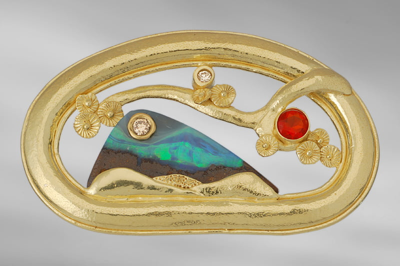 A brooch by Charmian Harris
