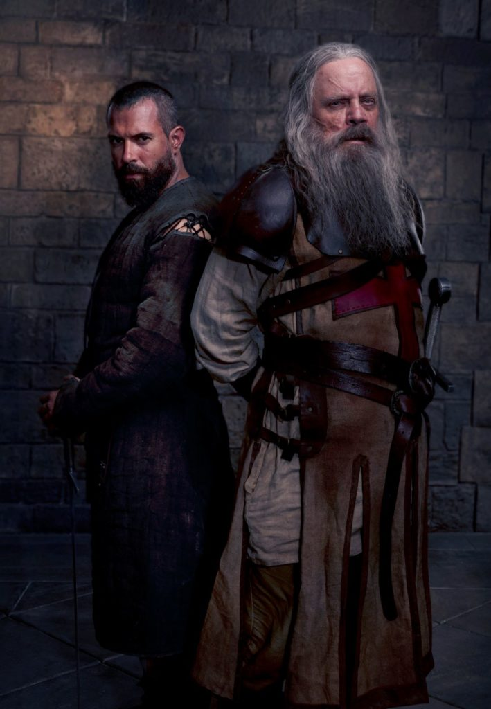 Tom Cullen as Landry and Mark Hamill as Talus in season 2 of History's Knightfall._ (Photo Credit: Larry Horricks)